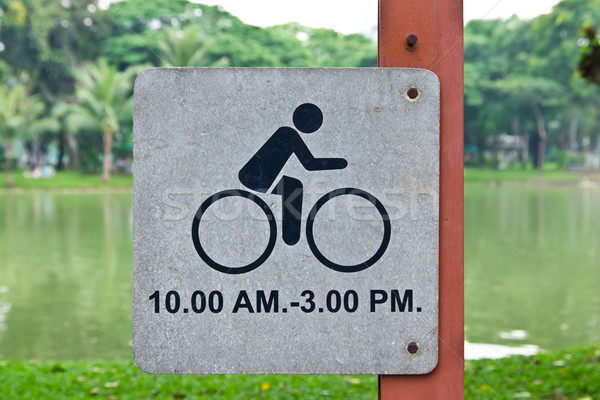 bicycle allow sign in park Stock photo © tungphoto