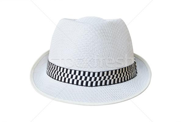 帽子 孤立した 白 ファッション 黒 ストックフォト © tungphoto
