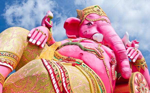 Roze standbeeld Thailand ogen oranje Stockfoto © tungphoto