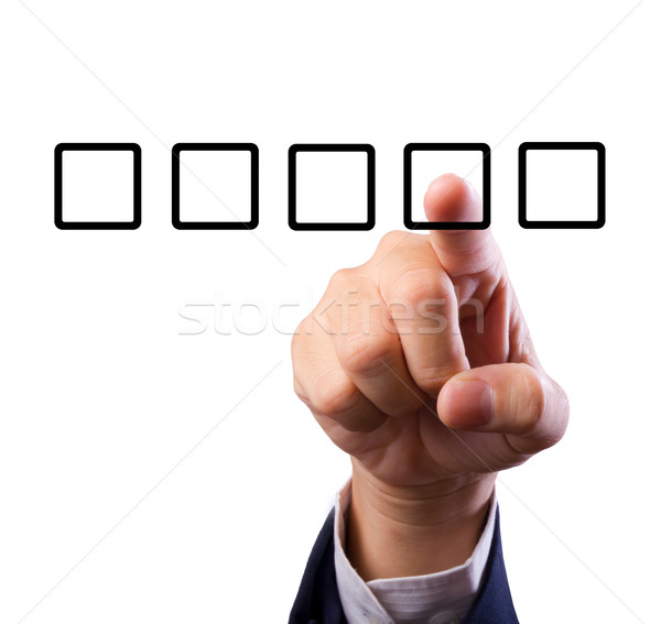 Business man hand with check box Stock photo © tungphoto