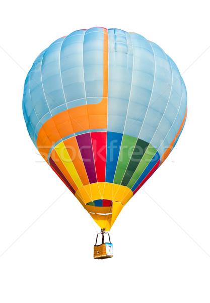 Kleurrijk luchtballon geïsoleerd witte hemel sport Stockfoto © tungphoto