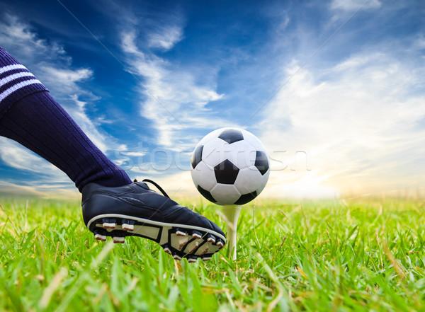 Voet voetbal golf sport voetbal Stockfoto © tungphoto