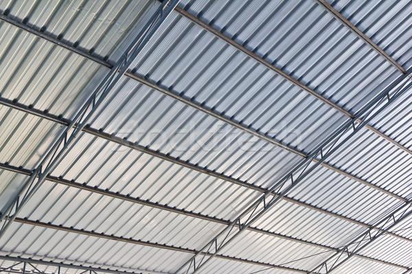 Metaal dak achtergrond industrie industriële staal Stockfoto © tungphoto