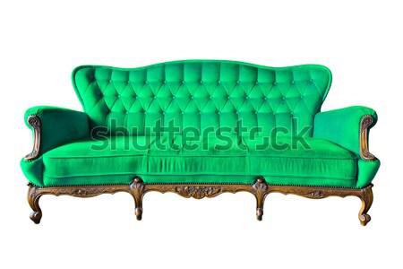 green sofa isolated Stock photo © tungphoto