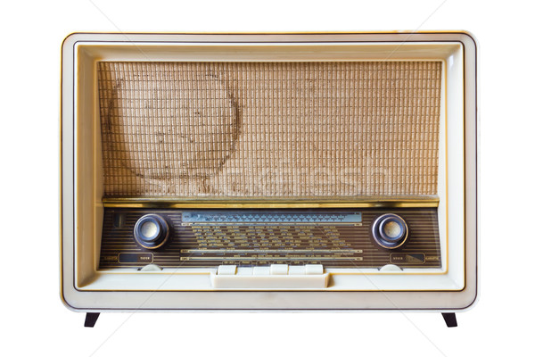 vintage radio isolated on white background Stock photo © tungphoto