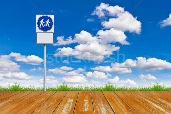 木材 徒歩 方法 にログイン 青空 空 ストックフォト © tungphoto