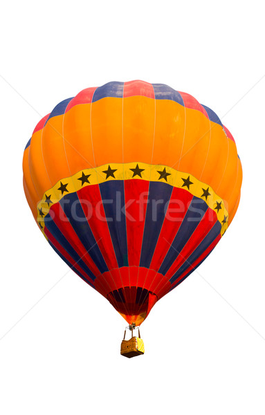 colorful hot air balloon isolated on white background Stock photo © tungphoto