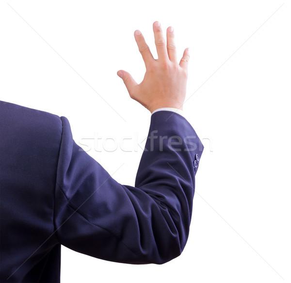 üzletember előadás kéz szavazás férfi test Stock fotó © tungphoto