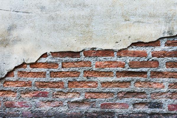 Grunge crăpa ciment perete textură vopsea Imagine de stoc © tungphoto