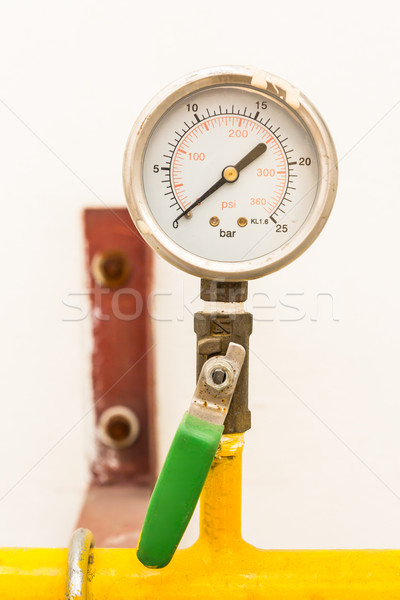 gas valve and meter Stock photo © tungphoto