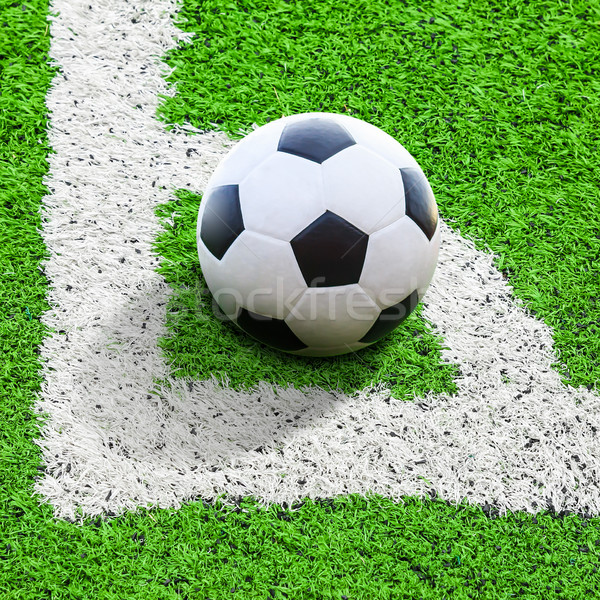 soccer ball on conner Stock photo © tungphoto