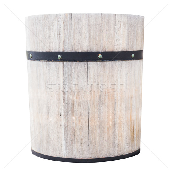 Drewna wiadro odizolowany spa pojemnik obiektu Zdjęcia stock © tungphoto