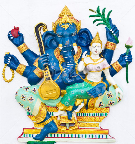 Indian or Hindu ganesha God Named Uchchishta Ganapati Stock photo © tungphoto