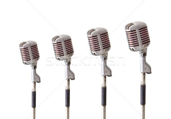 vintage microphone isolated on white background Stock photo © tungphoto
