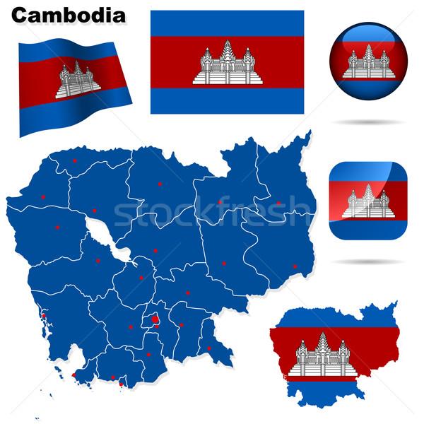 Cambodia vector set. Stock photo © tuulijumala