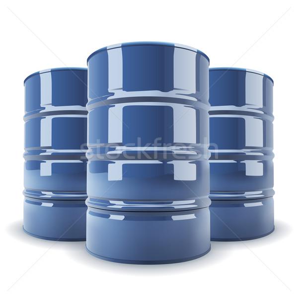 Grupy niebieski standard metal baryłkę odizolowany Zdjęcia stock © tuulijumala