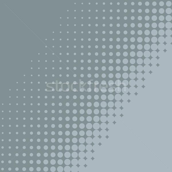 Absztrakt kék szürke halftone átló terv Stock fotó © tuulijumala