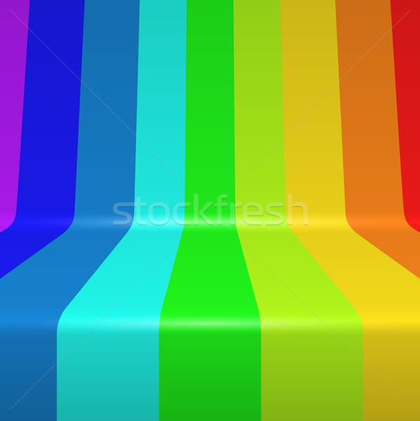 Colorful spectrum painted bent vertical stripes Stock photo © tuulijumala