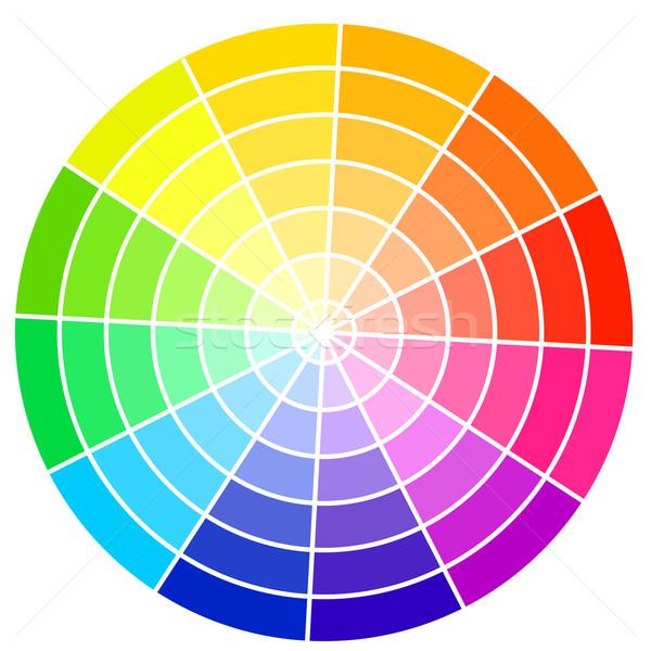 Szabvány szín kerék izolált fehér vektor Stock fotó © tuulijumala