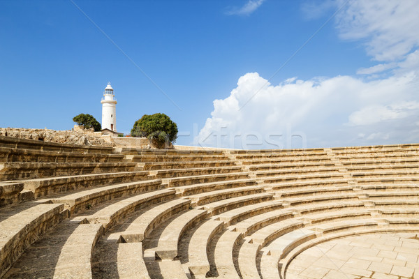 Ancient Odeon in Paphos Archaeological Park, Cyprus. Stock photo © tuulijumala