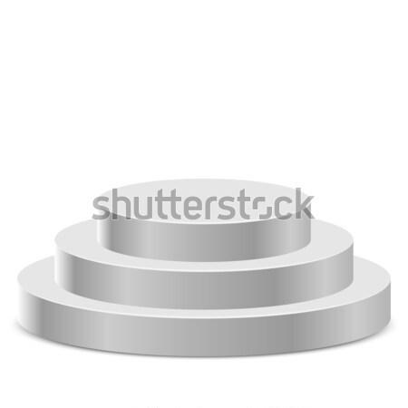 Drie stap witte podium geïsoleerd sport Stockfoto © tuulijumala