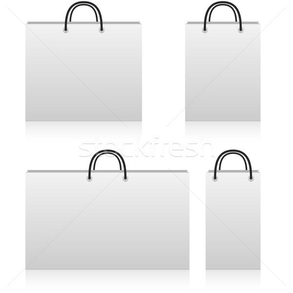 Witte papier winkel zakken verschillend exemplaar ruimte Stockfoto © tuulijumala