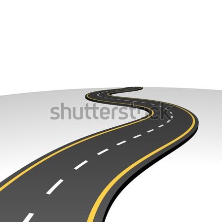 Streszczenie autostrady horyzoncie biały kopia przestrzeń działalności Zdjęcia stock © tuulijumala