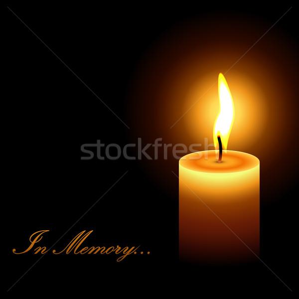 Geheugen rouw kaars licht vector kunst Stockfoto © tuulijumala