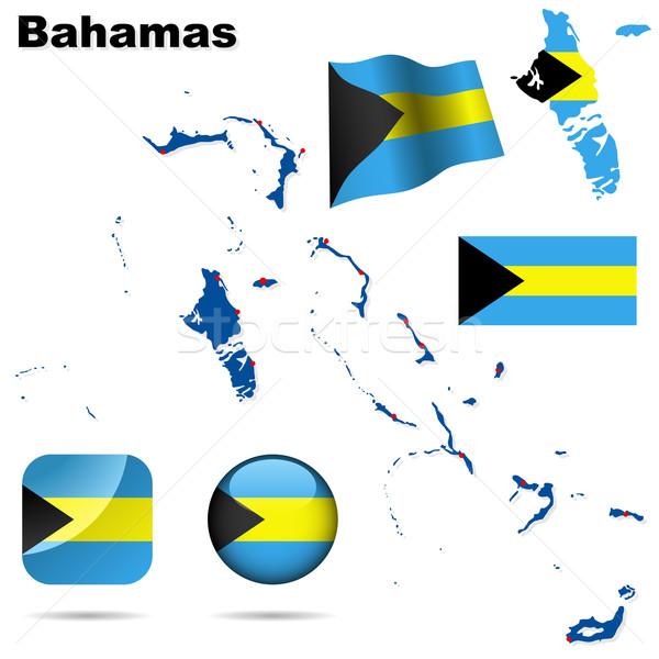 Сток-фото: Багамские · острова · вектора · набор · подробный · стране · форма