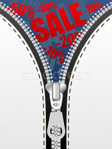 Sale opening concept vector background. Stock photo © tuulijumala