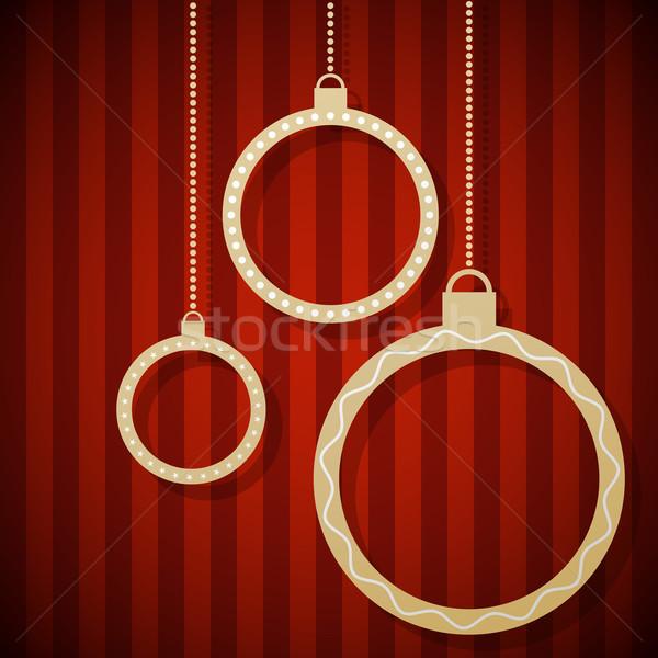 Abstract papier christmas opknoping Rood Stockfoto © tuulijumala
