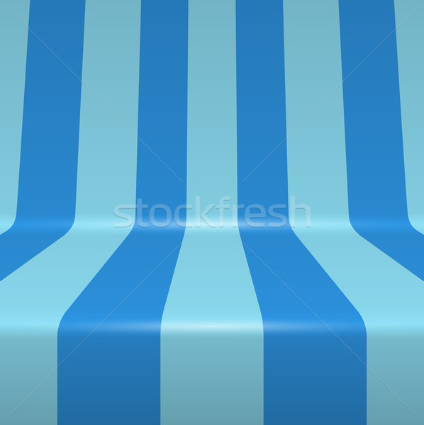 Blue painted bent vertical stripes vector background. Stock photo © tuulijumala