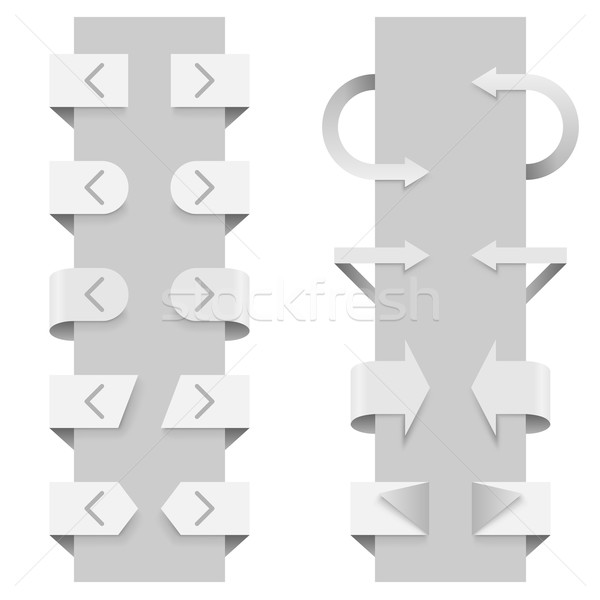 Arrows vector template for slider web elements. Stock photo © tuulijumala