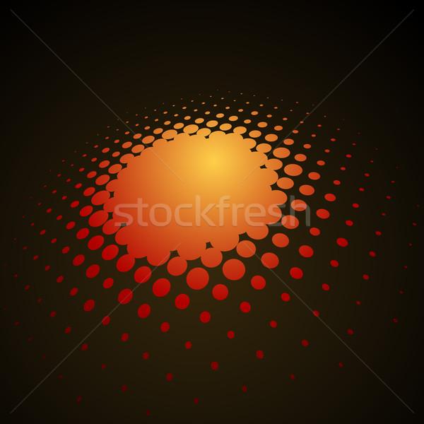 Resumen naranja 3D medios tonos vector textura Foto stock © tuulijumala