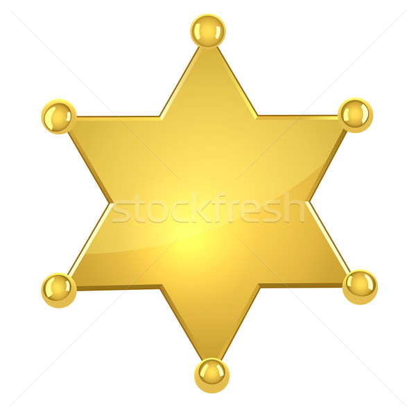 Blank golden sheriff star Stock photo © tuulijumala