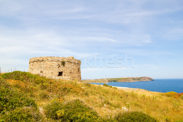 Torre d'en Penjat uncared fort scenery at Menorca, Spain Stock photo © tuulijumala