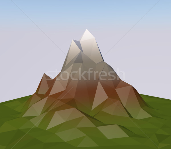 Abstract 3D triangular polygon mountain. Stock photo © tuulijumala
