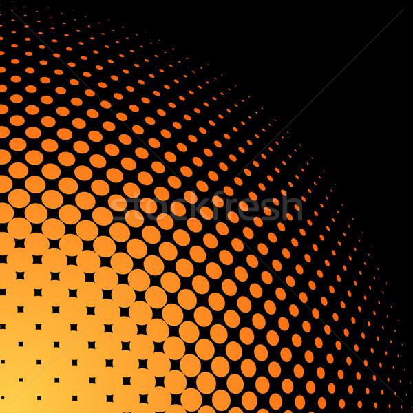 Giallo arancione mezzitoni nero copia spazio abstract Foto d'archivio © tuulijumala