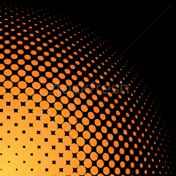 Yellow and orange halftone Stock photo © tuulijumala