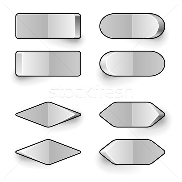 Blank white toggle switch vector template. Stock photo © tuulijumala