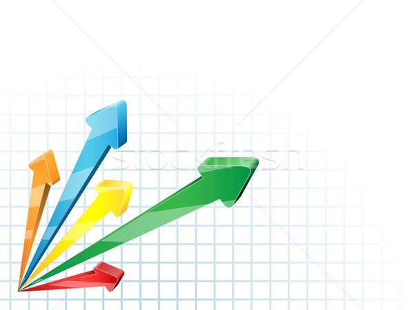 Absztrakt versenyző 3D nyilak üzlet vektor Stock fotó © tuulijumala