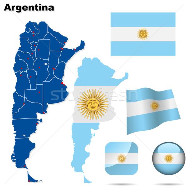 Foto d'archivio: Argentina · vettore · set · dettagliato · paese