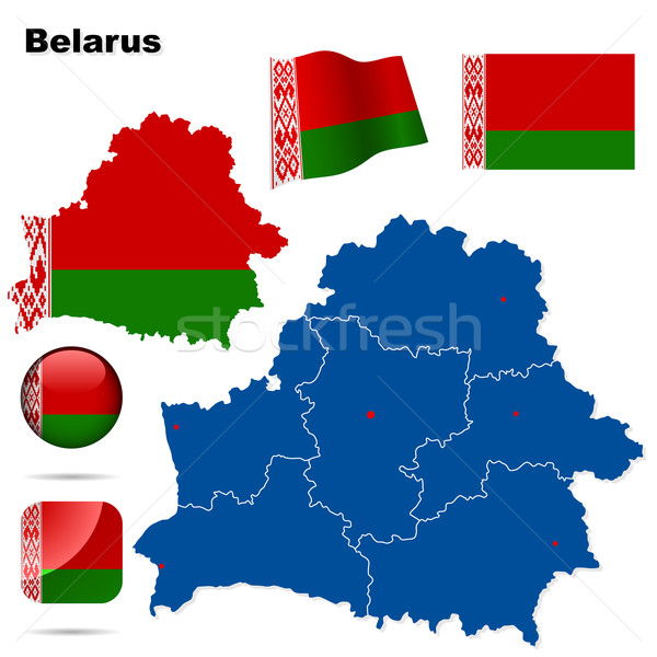 Belarus vector set. Stock photo © tuulijumala