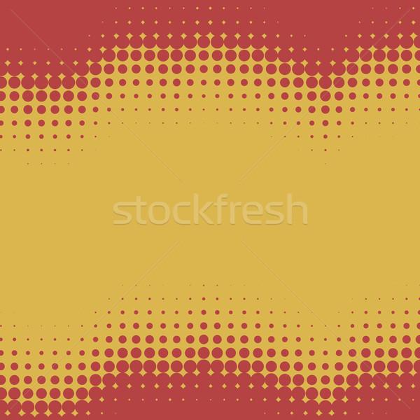 Rood Geel golvend halftoon exemplaar ruimte retro Stockfoto © tuulijumala
