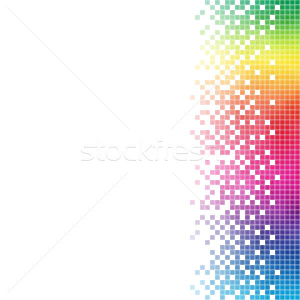 Stockfoto: Abstract · regenboog · mozaiek · vector · sjabloon · witte