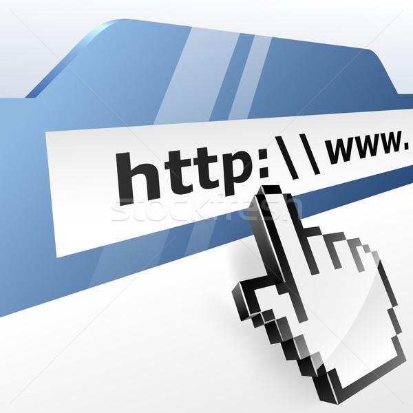 Surfen op het web hand wereld teken web Stockfoto © tuulijumala