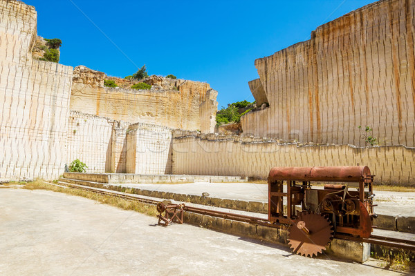 Menorca island Des'hostal quarry in sunny day. Stock photo © tuulijumala