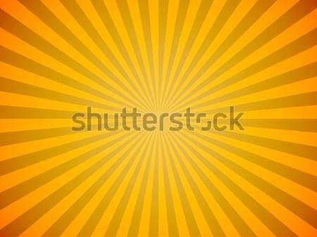 Fényes citromsárga nap kitörés vízszintes vektor Stock fotó © tuulijumala