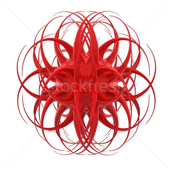 3D Rood weird organisch object geïsoleerd Stockfoto © tuulijumala