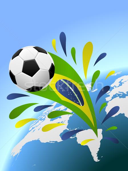 Brezilya futbol vektör bo spor dizayn Stok fotoğraf © tuulijumala
